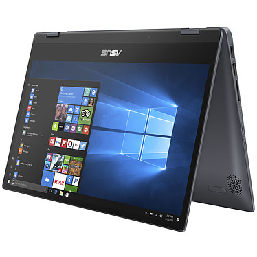 "ASUS VivoBook Flip 14 TP412UA-EC036T Intel Core i3-7020U 4 Go SSD 128 Go 14"" LED Full HD Tactile Wi-Fi AC/Bluetooth Webcam Windows 10 Famille en mode S"