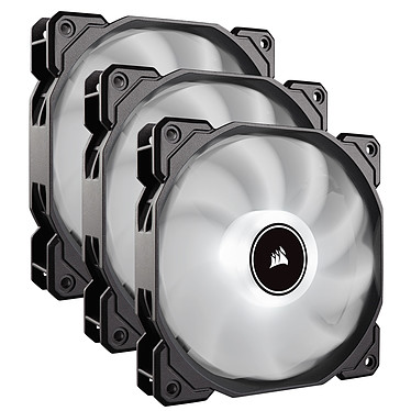 Corsair Air Series AF120 Low Noise - Blanc (par 3) Pack de 3 ventilateurs de boîtier 120 mm avec LEDs blanches