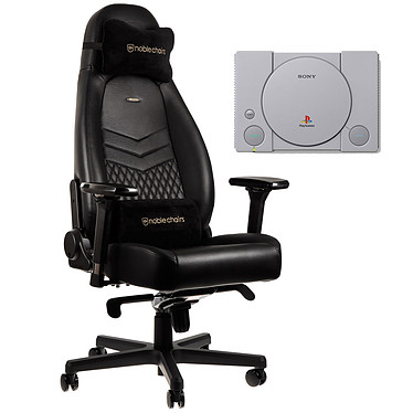 Noblechairs Icon Cuir (noir) + PS Classic OFFERTE !