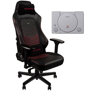 Noblechairs HERO Cuir (rouge) + PS Classic OFFERTE !