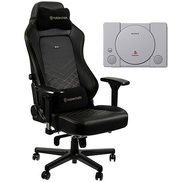 Noblechairs HERO (noir/or) + PS Classic OFFERTE !