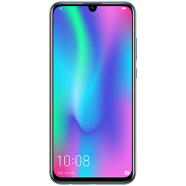 "Honor 10 Lite Bleu Smartphone 4G-LTE Advanced Dual SIM - Kirin 710 8-Core 2.2 GHz - RAM 3 Go - Ecran tactile 6.21"" 1080 x 2340 - 64 Go - Bluetooth 4.2 - 3400 mAh - Android 9.0"