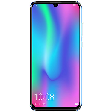 "Honor 10 Lite Bleu Saphir Smartphone 4G-LTE Advanced Dual SIM - Kirin 710 8-Core 2.2 GHz - RAM 3 Go - Ecran tactile 6.21"" 1080 x 2340 - 64 Go - Bluetooth 4.2 - 3400 mAh - Android 9.0"