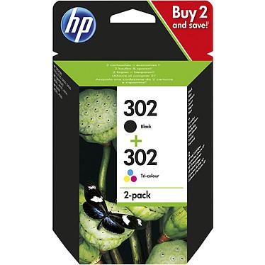 HP 302 Combo 3 couleurs / noir - X4D37AE Pack de 2 cartouches d'encre noire et tricolore (190 pages en noir, 165 pages en trois couleurs)