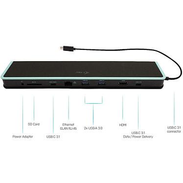 Avis i-tec USB-C Flat Docking Station + Power Delivery 60W (C31FLATDOCKPDV2)