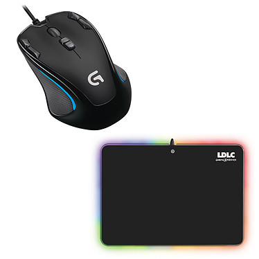 Logitech Gaming Mouse G300s + LDLC RGB PAD