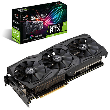 ASUS GeForce RTX 2060 ROG-STRIX-RTX2060-A6G-GAMING 6 Go GDDR6 - Dual HDMI/Dual DisplayPort - PCI Express (NVIDIA GeForce RTX 2060)
