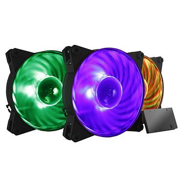 Cooler Master Masterfan Pro 120 Air Balance RGB (Pack de 3 + contrôleur LED RGB)