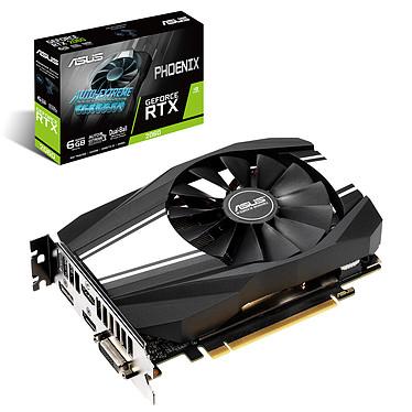 ASUS GeForce RTX 2060 Phoenix PH-RTX2060-6G 6 Go GDDR6 - Dual HDMI/DisplayPort/DVI - PCI Express (NVIDIA GeForce RTX 2060)