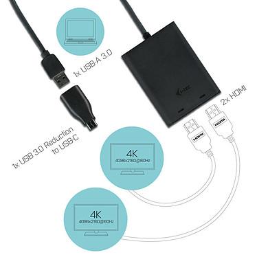 Avis i-tec USB 3.0 / USB-C Dual 4K HDMI Video Adapter