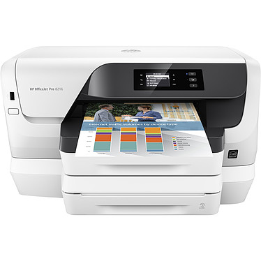 HP Officejet Pro 8218 Imprimante jet d'encre couleur (USB 2.0 / Ethernet / Wi-Fi / AirPrint / Google Cloud Print)