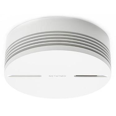 Netatmo NSA-FR Détecteur de fumée intelligent Wi-Fi et Bluetooth compatible Apple HomeKit