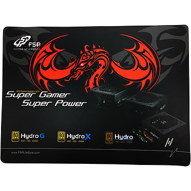 FSP Gamme Hydro Tapis de souris pour gamer (taille standard)