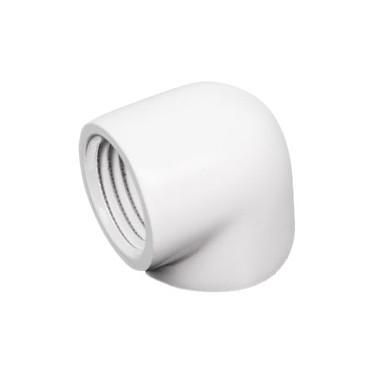 "Barrow Embout 90° - Blanc (TDWT90SN-V2) Adaptateur 90° femelle / femelle G1/4"" - Blanc"