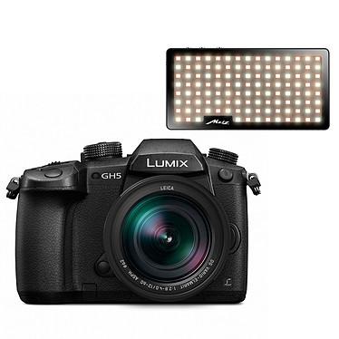 """Panasonic DMC-GH5 + Leica 12-60 mm + Metz mecalight S500 BC Appareil photo hybride 20.3 MP - Photo 6K - Vidéo 4K 60p - Stabilisateur Dual IS 2 - Ecran tactile orientable 3.2"""" - Viseur OLED - Wi-Fi/Bluetooth 4.2 + Objectif DG Vario-Elmar 12-60 mm f/2.4-4.0 ASPH Power O.I.S   Lampes vidéo à LED bicolore"""