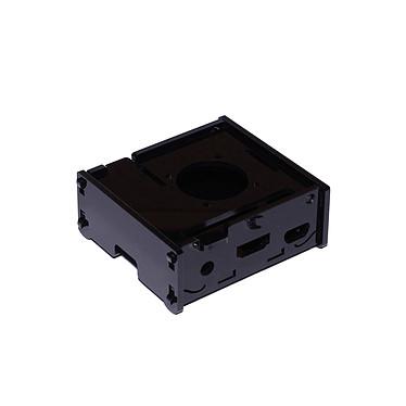 Boitier pour Raspberry Pi 3 A+ avec support Ventilateur (Noir) Boîtier en plastique noir pour carte Raspberry Pi 3 A+ avec support Ventilateur