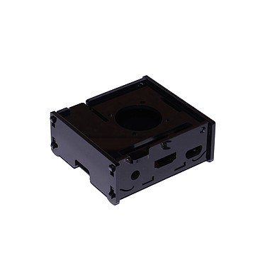 Estuche para frambuesa Pi 3 A+ con soporte para ventilador (negro) Estuche de plástico negro para tarjeta Frambuesa Pi 3 A+ con soporte para abanico