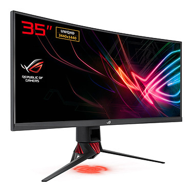 "ASUS 35"" LED - ROG Strix XG35VQ 3440 x 1440 pixels - 1 ms - Format large 21/9 - Dalle VA incurvée - 100 Hz - ELMB/FreeSync - Ultra Low Blue Light + Flicker Free - HDMI/DisplayPort"