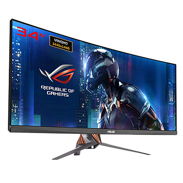 "ASUS 34"" LED - ROG Swift PG348Q 3440 x 1440 pixels - 5 ms (gris à gris) - Format large 21/9 - Dalle IPS incurvée - Ultra Low Blue Light + Flicker Free - DisplayPort - HDMI - Hub USB 3.0 - G-SYNC (garantie constructeur 3 ans)"