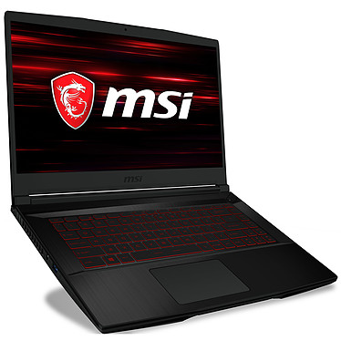 "MSI GF63 8RD-436FR Intel Core i7-8750H 16 Go SSD 256 Go + HDD 1 To 15.6"" LED Full HD NVIDIA GeForce GTX 1050 Ti 4 Go Wi-Fi AC/Bluetooth Webcam Windows 10 Famille 64 bits"