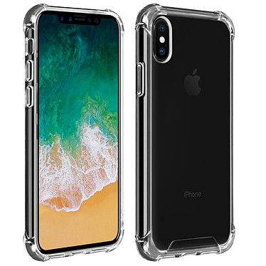 Akashi Coque TPU Angles Renforcés Apple iPhone Xs / X Coque de protection transparente avec angles renforcés pour Apple iPhone Xs / X
