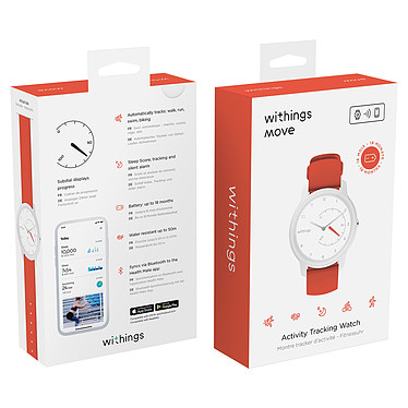 Avis Withings Move Blanc/Corail