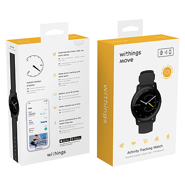 Avis Withings Move Noir/Jaune