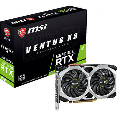 MSI GeForce RTX 2060 VENTUS XS 6G OC 6 Go GDDR6 - HDMI/Tri DisplayPort - PCI Express (NVIDIA GeForce RTX 2060)