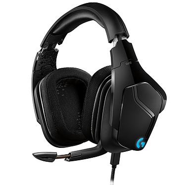 Logitech G635 Casque gaming filaire - circum-aural fermé - DTS Headphone:X 2.0 - microphone unidirectionnel repliable - touches G programmables - rétro-éclairage Lightsync RGB