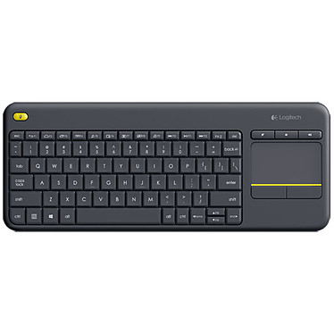Logitech K400 PLUS (Negro) Teclado de Membrana Inalámbrico - Touchpad - compatible con Android (QWERTY, Español)