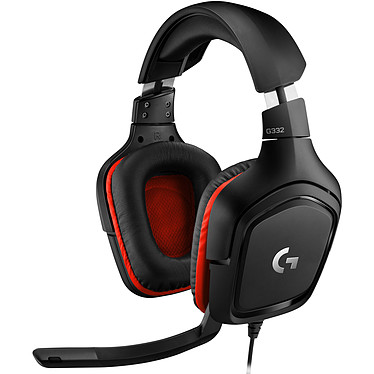 Logitech G332 Casque gaming filaire - circum-aural fermé - microphone unidirectionnel repliable - compatible PC, PlayStation 4, Xbox One et mobiles