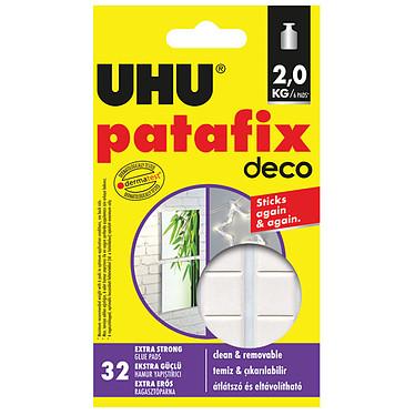 UHU Patafix Deco 32 Pastilles Super-fortes  32 pastilles super-fortes détachables et repositionnables