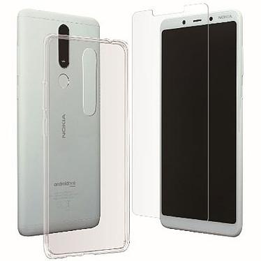 Muvit Pack Coque et Verre Trempé Nokia 3.1 Plus Pack coque de protection souple et transparente + verre trempé pour Nokia 3.1 Plus