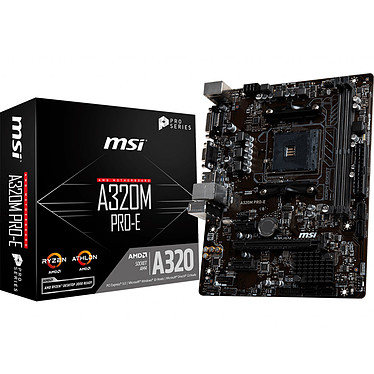 MSI A320M PRO-E Carte mère Micro ATX Socket AM4 AMD A320 - 2x DDR4 - SATA 6Gb/s - 1x PCI-Express 3.0 16x