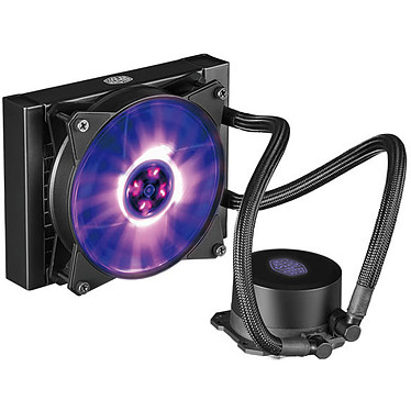 Cooler Master MasterLiquid ML120L RGB Kit de Watercooling RGB tout-en-un pour processeur (Intel socket LGA 2066 / 2011-3 / 2011 / 1366 / 1150 / 1151/ 1155 / 1156 / 775 AMD socket FM2+ / FM2 / FM1 / AM4 / AM3+ / AM3 / AM2 / AM2+)