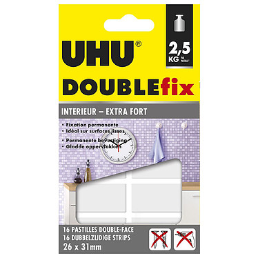 UHU Doublefix 16 Pastilles Extra-fortes 16 pastilles double face extra-fortes