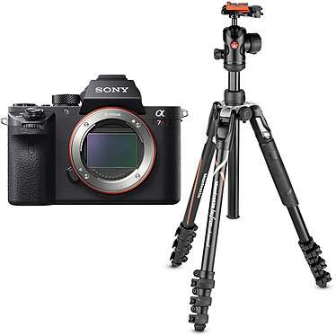 "Sony Alpha 7R II + Manfrotto Befree Advanced MKBFRLA-BH Appareil photo hybride plein format 42.4 MP - Ecran 3"" tactile inclinable - Viseur OLED XGA - Vidéo 4K - Wi-Fi - NFC (boîtier nu) + Kit trépied de voyage avec verrouillage levier"