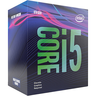 Intel Core i5-9500F (3.0 GHz / 4.4 GHz) Processeur 6-Core Socket 1151 Cache L3 9 Mo 0.014 micron (version boîte - garantie Intel 3 ans)