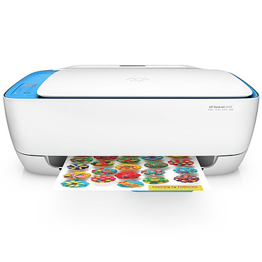 HP DeskJet 3639 Imprimante multifonction jet d'encre couleur 3-en-1 (USB 2.0/Wi-Fi N)