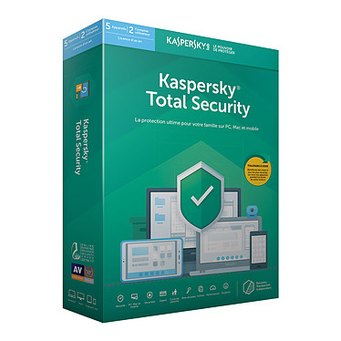 Kaspersky Total Security 2019 - Licence 5 postes 1 an