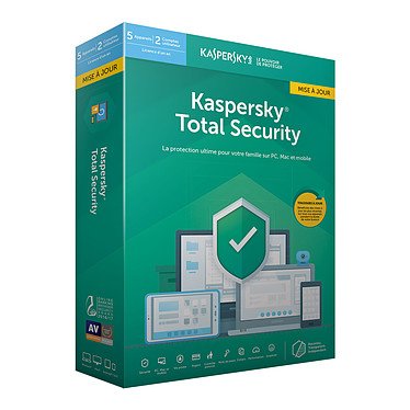 Kaspersky Total Security 2019 Mise à jour - Licence 5 postes 1 an
