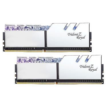 G.Skill Trident Z Royal 16 Go (2 x 8 Go) DDR4 3600 MHz CL16 - Argent Kit Dual Channel 2 barrettes de RAM DDR4 PC4-28800 - F4-3600C16D-16GTRS avec LED RGB