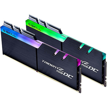 G.Skill Trident Z RGB DC 64 Go (2 x 32 Go) DDR4 3000 MHz CL14 Kit Dual Channel 2 barrettes de RAM DDR4 PC4-24000 - F4-3000C14D-64GTZDC avec LED RGB