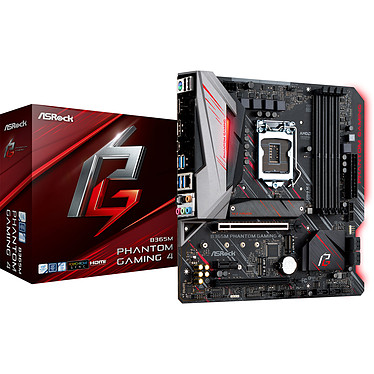 ASRock B365M PHANTOM GAMING 4 Carte mère micro-ATX Socket 1151 Intel B365 Express - 4x DDR4 - SATA 6Gb/s + M.2 - USB 3.0 - 2x PCI-Express 3.0 16x