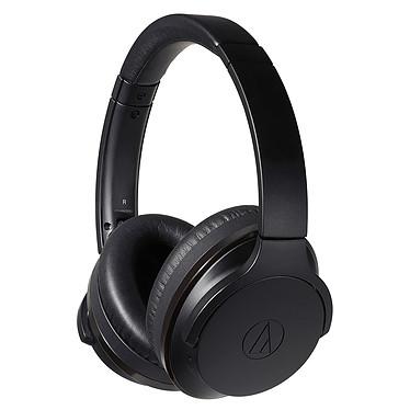 Audio-Technica ATH-ANC900BT Noir Casque circum-auriculaire fermé sans fil Bluetooth 5.0 avec réduction de bruit hybride, Hi-Res Audio, commandes et micro