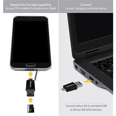 StarTech.com  Lecteur/Adaptateur microSD USB vers micro USB / USB pas cher