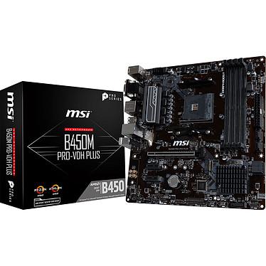 MSI B450M PRO-VDH PLUS Carte mère Micro ATX Socket AM4 AMD B450 - 4x DDR4 - SATA 6Gb/s + M.2 - USB 3.0 - 1x PCI-Express 3.0 16x