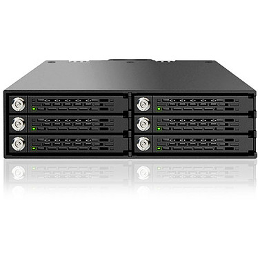 "ICY DOCK Tougharmor MB996SK-6SB Backplane Rack para 6 discos 2.5"" Serial ATA en rack de 5.25"