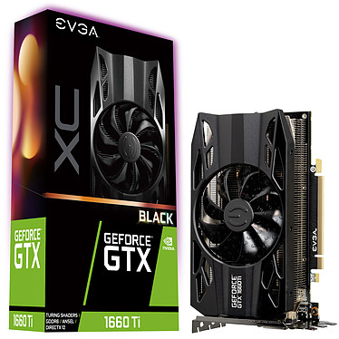 EVGA GeForce GTX 1660 Ti XC BLACK GAMING 6 Go GDDR6 - HDMI/DisplayPort/DVI - PCI Express (NVIDIA GeForce GTX 1660 Ti)