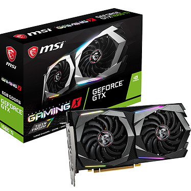 MSI GeForce GTX 1660 Ti GAMING X 6G 6 Go GDDR6 - HDMI/Tri DisplayPort - PCI Express (NVIDIA GeForce GTX 1660 Ti)
